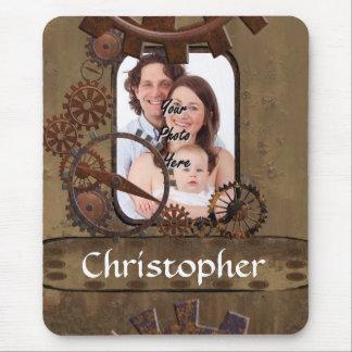Plantilla personalizada de la foto del steampunk alfombrilla de ratón