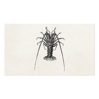 Plantilla personalizada de la langosta espinosa tarjetas de visita