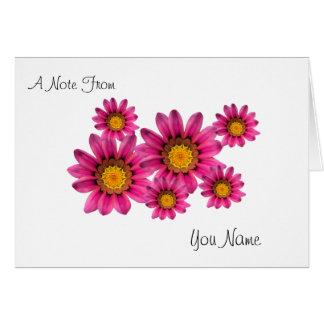 Plantilla personalizada de las tarjetas de nota