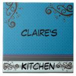 Plantilla personalizada de Trivet de la cocina del Azulejos