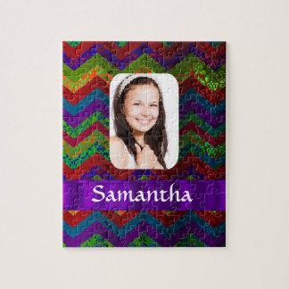 Plantilla personalizada galón de la foto del color puzzles con fotos