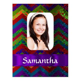Plantilla personalizada galón de la foto del hippy tarjeta postal