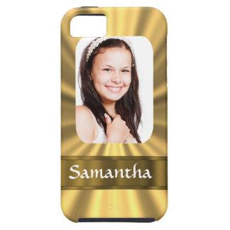 Plantilla personalizada mirada de la foto del oro iPhone 5 Case-Mate cobertura