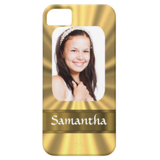 Plantilla personalizada mirada de la foto del oro iPhone 5 Case-Mate coberturas