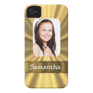 Plantilla personalizada mirada de la foto del oro Case-Mate iPhone 4 cárcasa