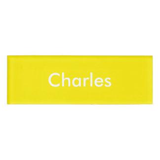 Plantilla personalizada narciso amarillo etiqueta con nombre