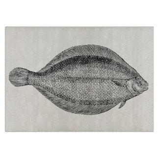 Plantilla personalizada pescados de la platija de tablas para cortar