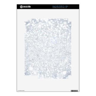 plantilla, plata, brillo, encanto, falso, buenas skin para el iPad 2