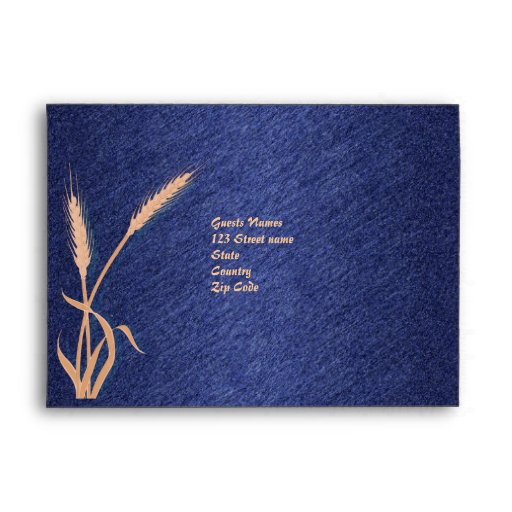 Plantilla poner crema azul del sobre del boda