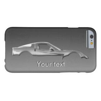 Plantilla popular del texto del metal del funda de iPhone 6 barely there