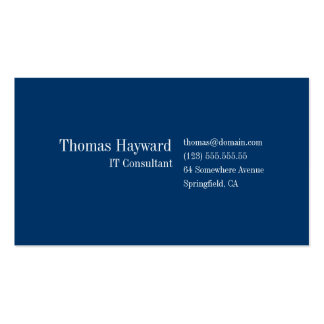Plantilla profesional simple y llana de la tarjeta
