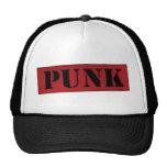 Plantilla punky - rojo/negro gorro de camionero