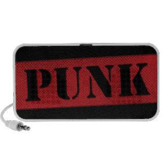 Plantilla punky - rojo/negro iPhone altavoz