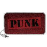Plantilla punky - rojo/negro notebook altavoces