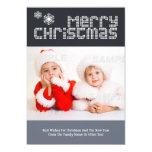 Plantilla punteada moderna de la foto del navidad invitaciones personalizada