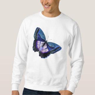 Plantilla púrpura azul marino 1896 de la mariposa sudadera con capucha