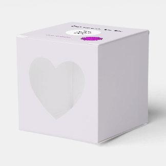 Plantilla púrpura de la cinta de la flor cajas para regalos de boda