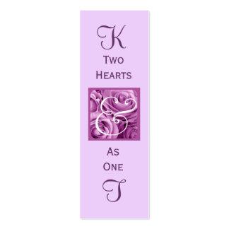 Plantilla púrpura de la tarjeta de visita de la et