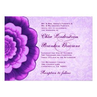 Plantilla púrpura del boda de la flor anuncios personalizados