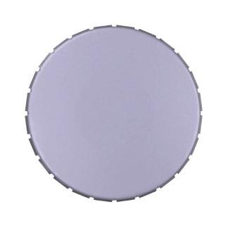 Plantilla púrpura del espacio en blanco de la tend latas de caramelos