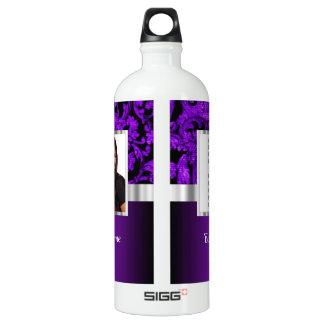 Plantilla púrpura y negra de la foto del damasco