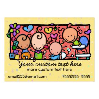 Plantilla que cuid losa nin¢os del cuarto de niño plantilla de tarjeta personal