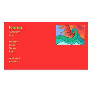 Plantilla radiante de la tarjeta de visita de la p