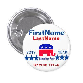Plantilla redonda republicana del botón