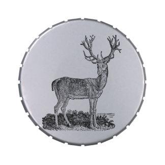 Plantilla retra de las astas de los ciervos del ma latas de caramelos
