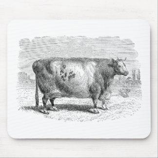 Plantilla retra de las vacas de la vaca grande de  tapetes de ratones