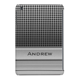 Plantilla retra del nombre del micrófono carcasa para iPad mini