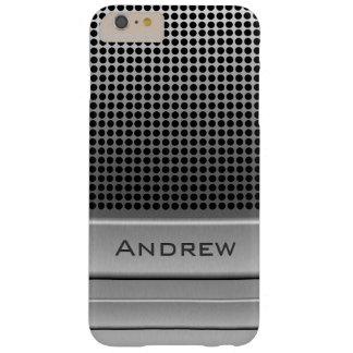 Plantilla retra del nombre del micrófono funda de iPhone 6 plus barely there