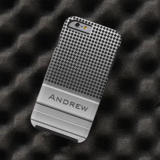Plantilla retra del nombre del micrófono funda de iPhone 6 tough