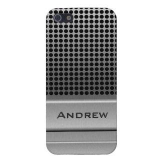 Plantilla retra del nombre del micrófono iPhone 5 funda