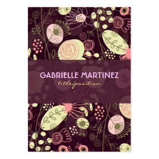 Plantilla retra linda colorida de la tarjeta de vi