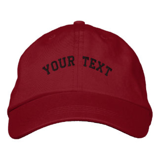 Plantilla roja bordada básica del casquillo gorras bordadas