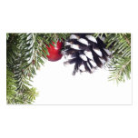 Plantilla roja de la baya del cono del pino de la  tarjetas de visita