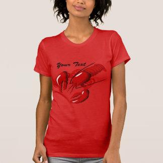 Plantilla roja de la camiseta de las señoras de la playeras