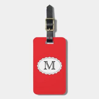 Plantilla roja de la etiqueta del bolso del viaje etiquetas para equipaje