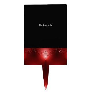 Plantilla roja de la fotografía figuras de tarta