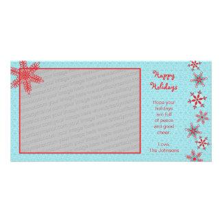 Plantilla roja de la tarjeta de la foto de los cop tarjetas personales