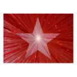 Plantilla roja de la tarjeta de visita de la estre