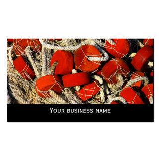 Plantilla roja de la tarjeta de visita de los