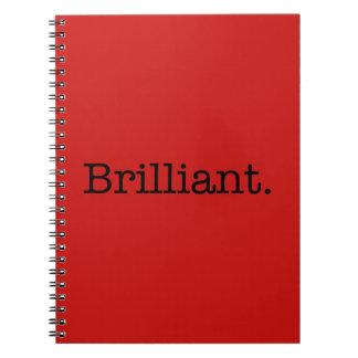 Plantilla roja del color de la tendencia de la ama spiral notebook