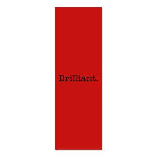 Plantilla roja del color de la tendencia de la ama tarjetas de visita mini