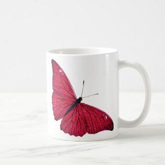 Plantilla roja del ejemplo de la mariposa de los 1 taza básica blanca