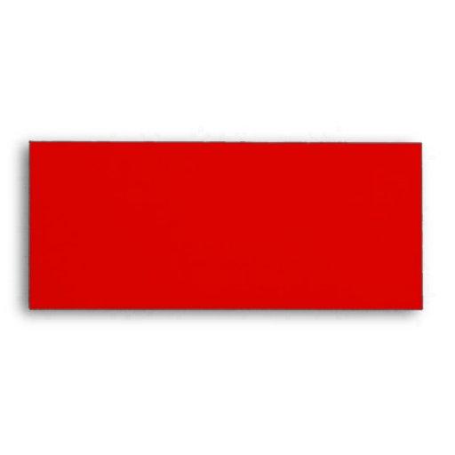 Plantilla roja del sobre #10