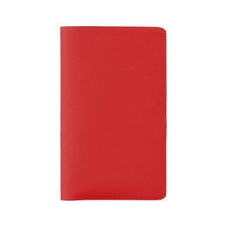 Plantilla roja funda para libreta y libreta grande moleskine