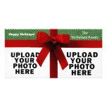 Plantilla roja simple de la foto del arco tarjetas fotográficas personalizadas
