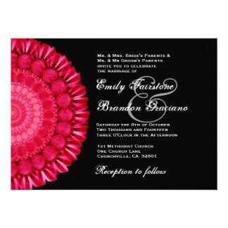 Plantilla roja y negra del boda de la rueda de mar comunicado personal